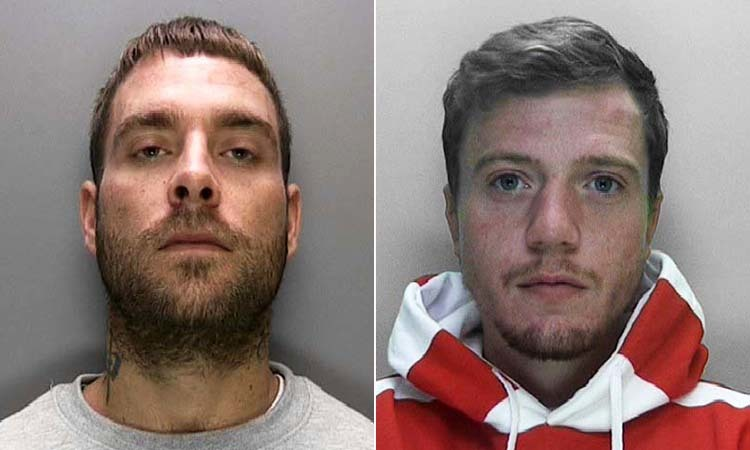 Liam Newman (left) and Damien Gilbert (right) were charged with robbery and possession of a firearm and now are facing 16 and a half years in prison between them
