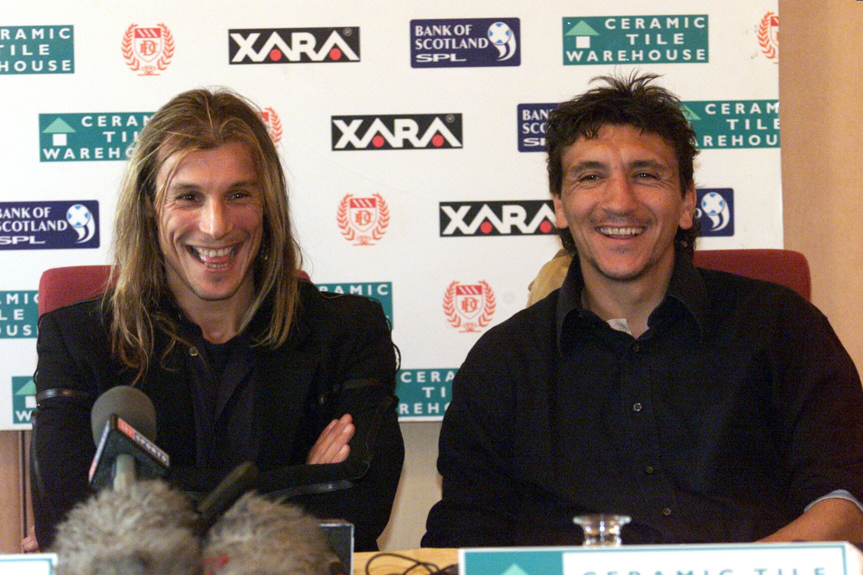 Claudio Caniggia signed for Dundee on Tuesday October 3 2000.