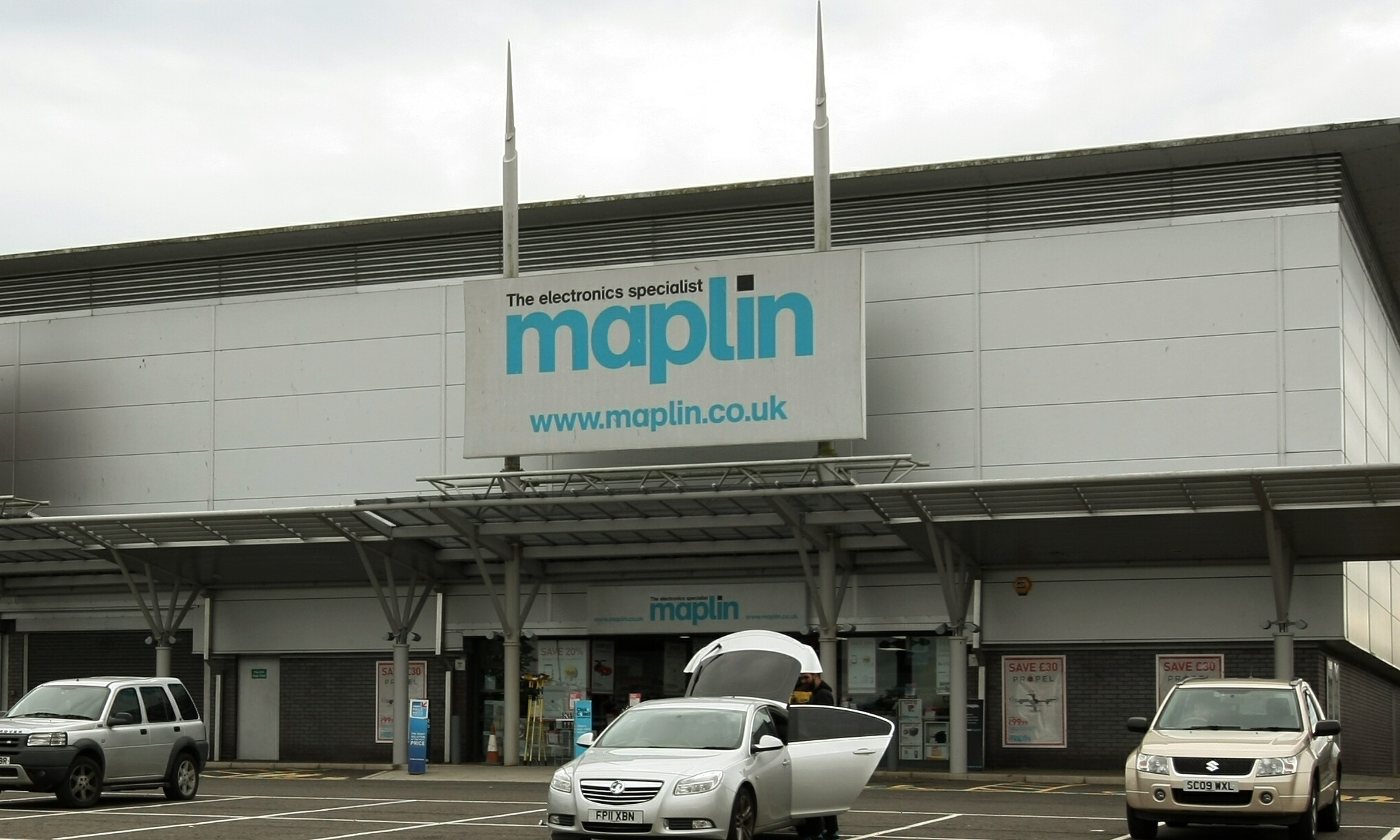 The Maplin store at Kingsway West Retail Park