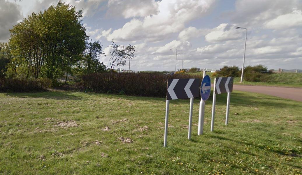 New Inn roundabout near Glenrothes