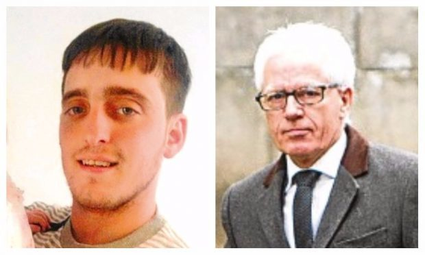 An inquiry is being held into the death of Dale Thomson. Right: Solicitor Danny Devine