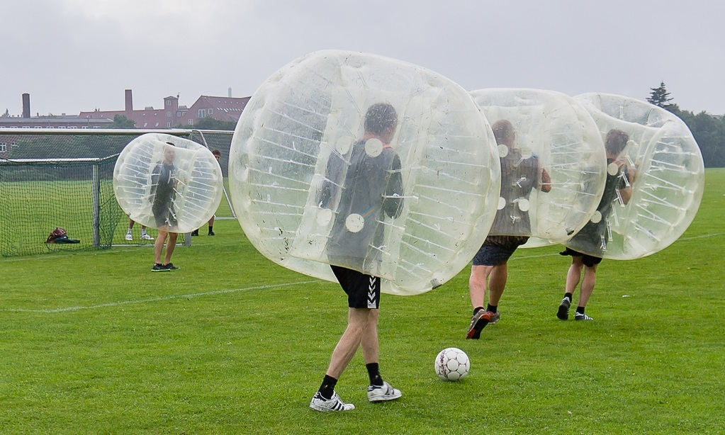 Bubble football will be on offer.