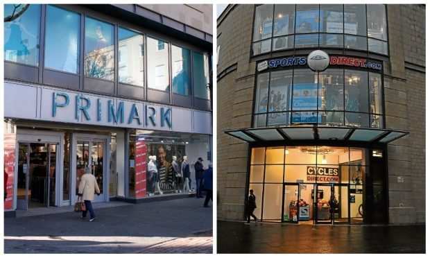 The  quartet admitted the thefts from Sports Direct and Primark in the Overgate.