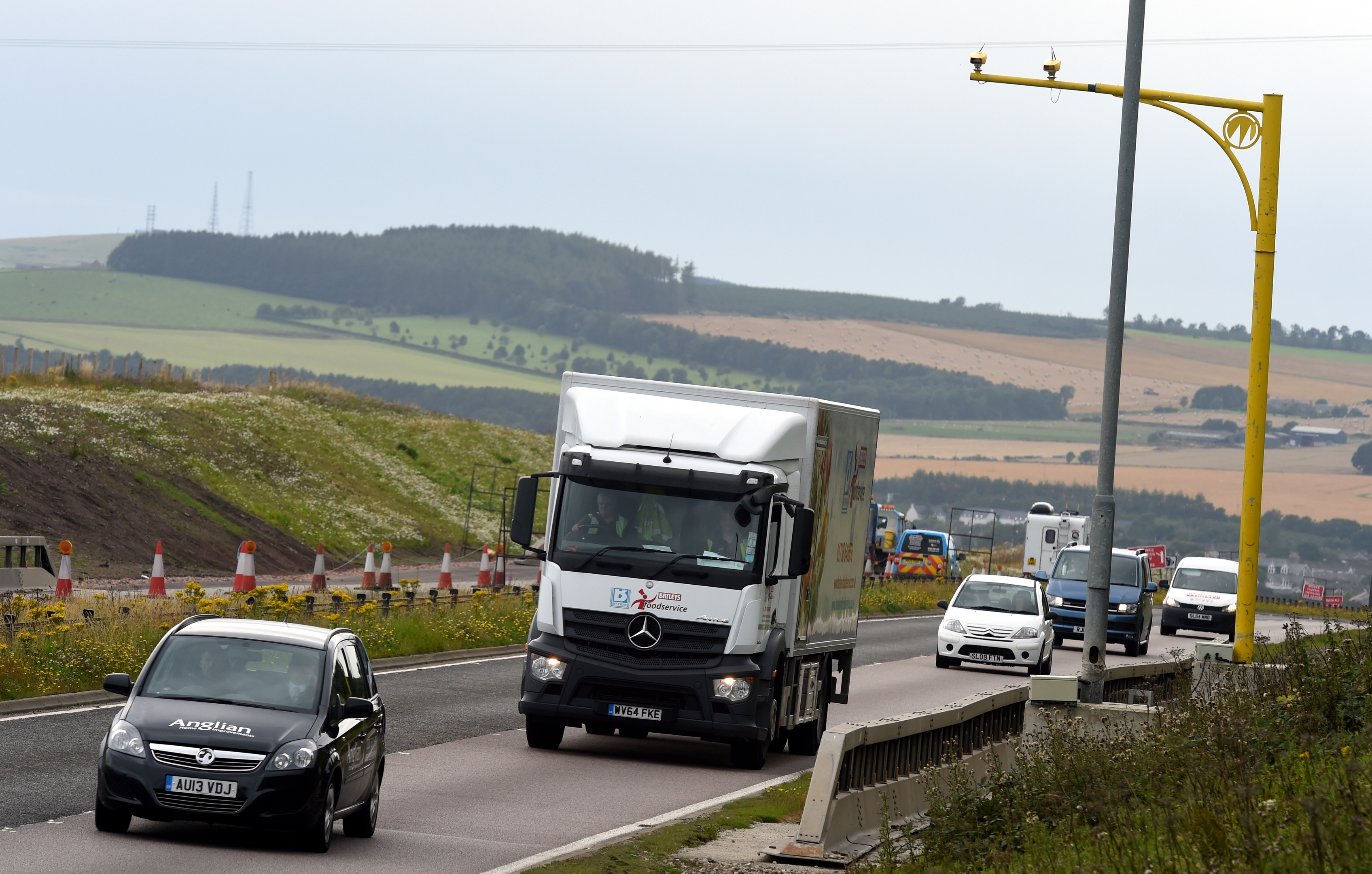 Average speed cameras on the A90 north of Dundee