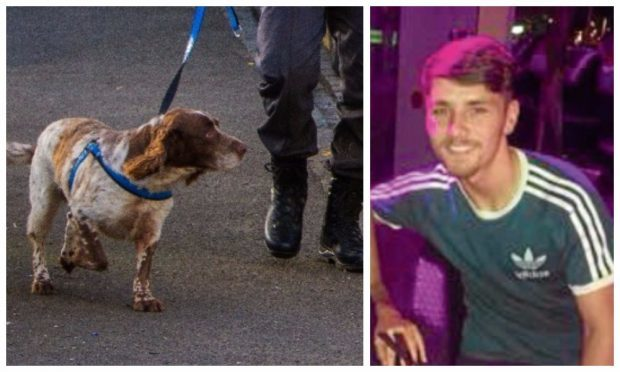 Reece Holt tried to flee after being approached by a police sniffer dog.