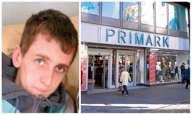 Joseph Tracey stole from a number of shops across Dundee, including Primark