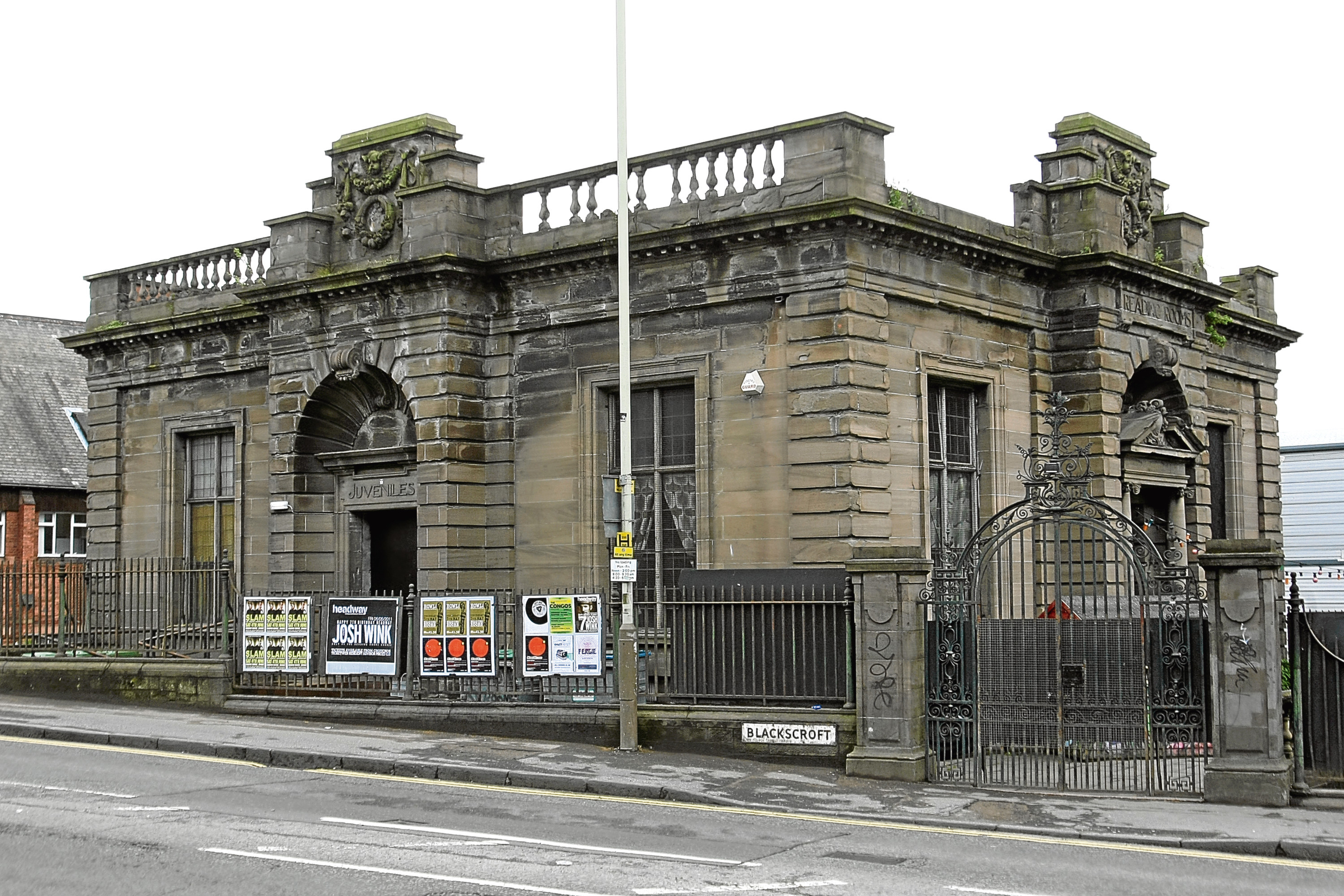 Exterior of the Reading Rooms in Blackscroft, Dundee