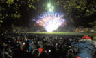 Revellers enjoying one of Dundee City Council's annual Bonfire Night displays at Baxter Park