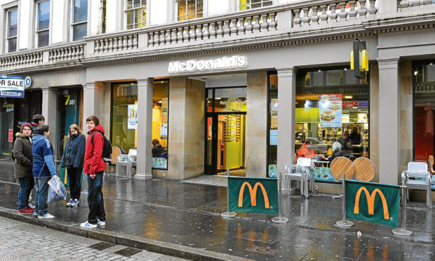 McDonald's in Reform Street, Dundee. (Library image).