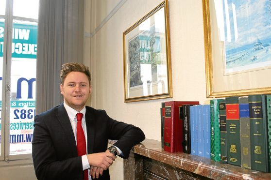 Ryan Russell, a partner with Muir Myles Legal in Bell Street, has been named Scottish lawyer of the month for March.