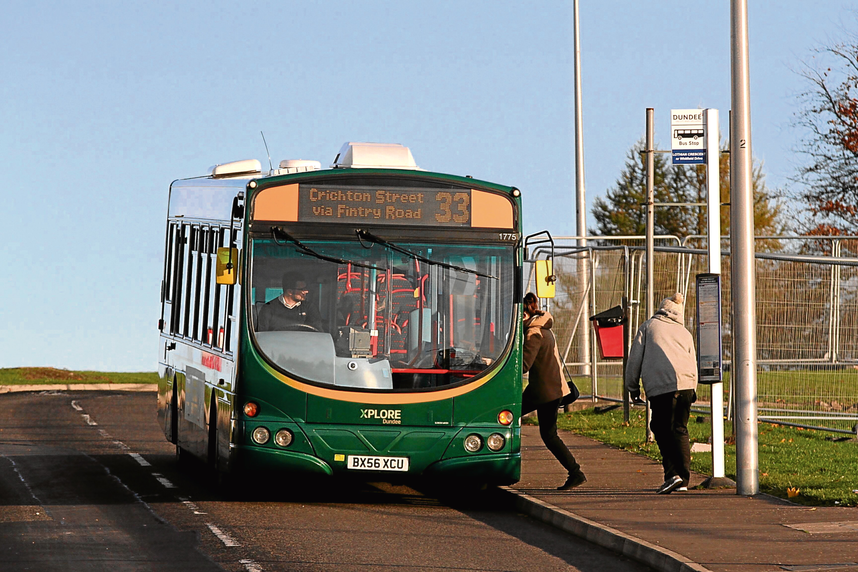 The Xplore 33 bus, one of two services which could be rerouted in a bid to improve reliability.