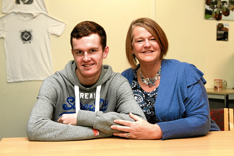 Jamie Glass (20) and his mum Pam (51)