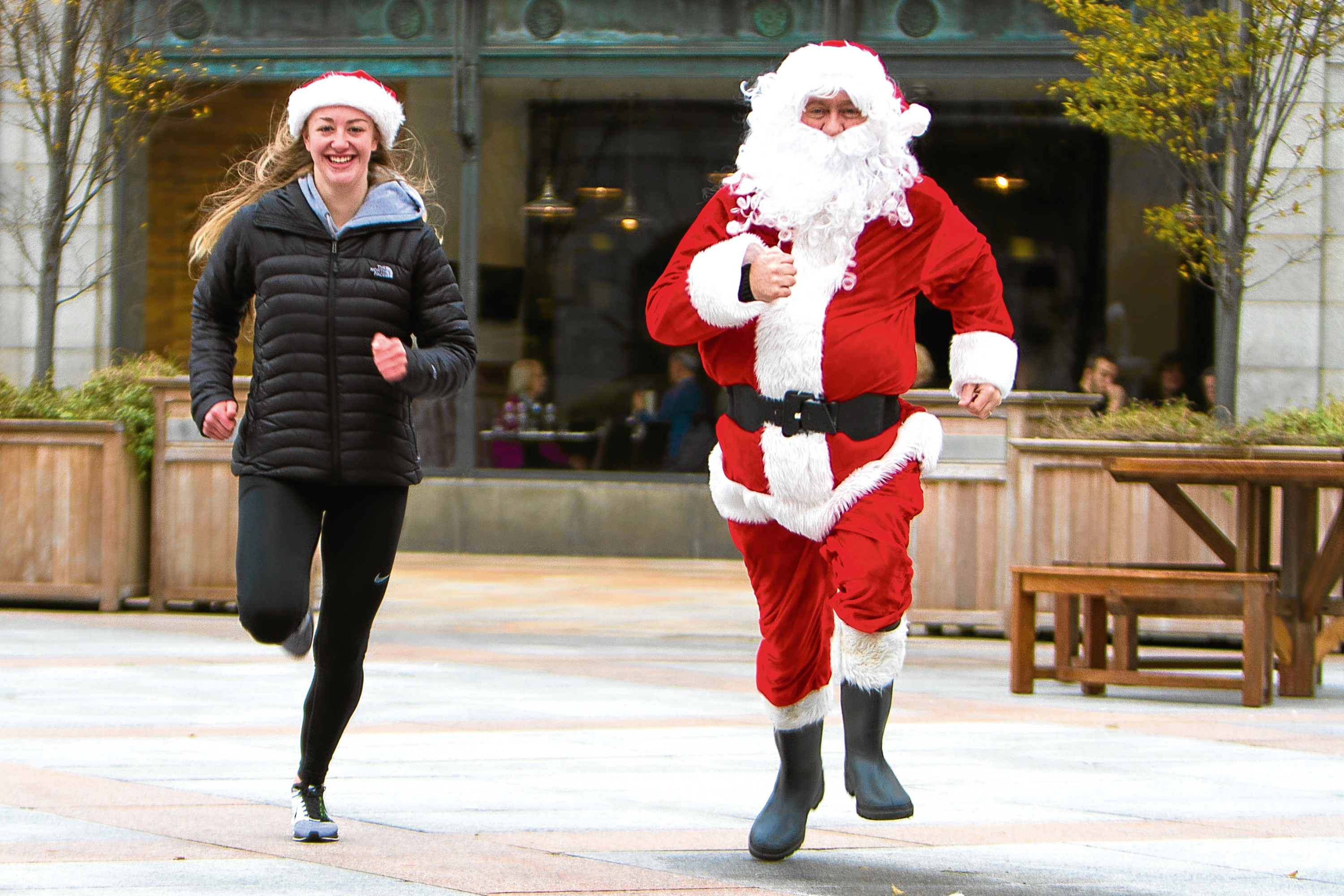 Amy gets ready for the Santa Dash later this month.