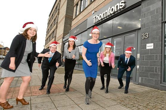 Staff from Thorntons Solicitors and their families are gearing up to take part in Dundee's  first ever Santa Dash