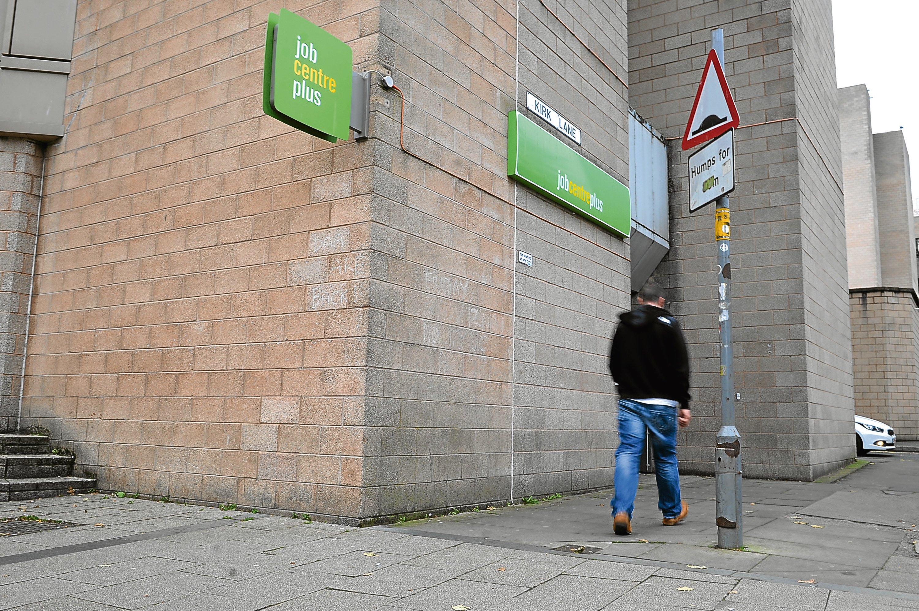 Dundee's Jobcentre Plus at the Wellgate.
