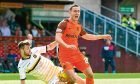 Dundee United midfielder Jordie Briels has not featured in the team for new boss Csaba Laszlo but could be fit again soon.