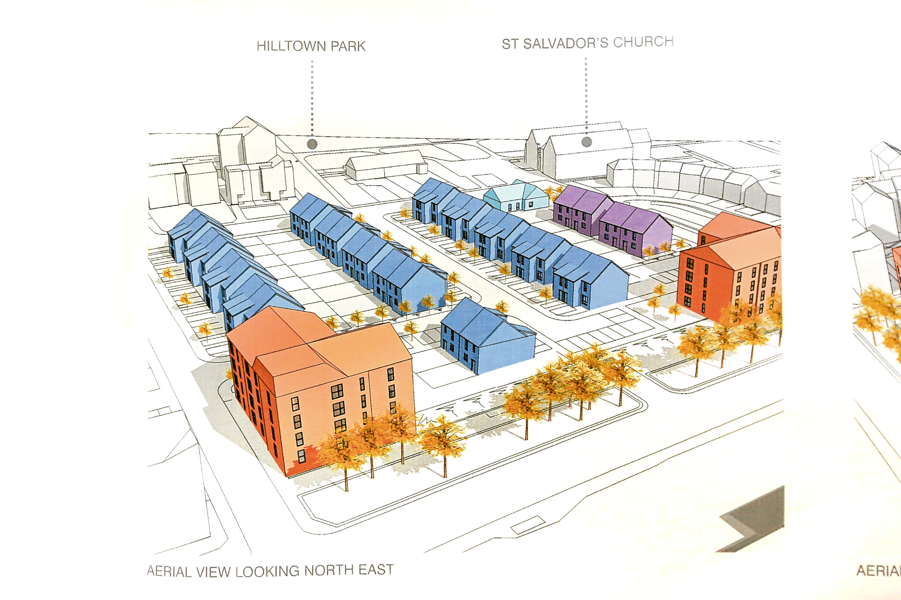 Part of the plans for the Hilltown housing development. Picture courtesy of JM Architects.