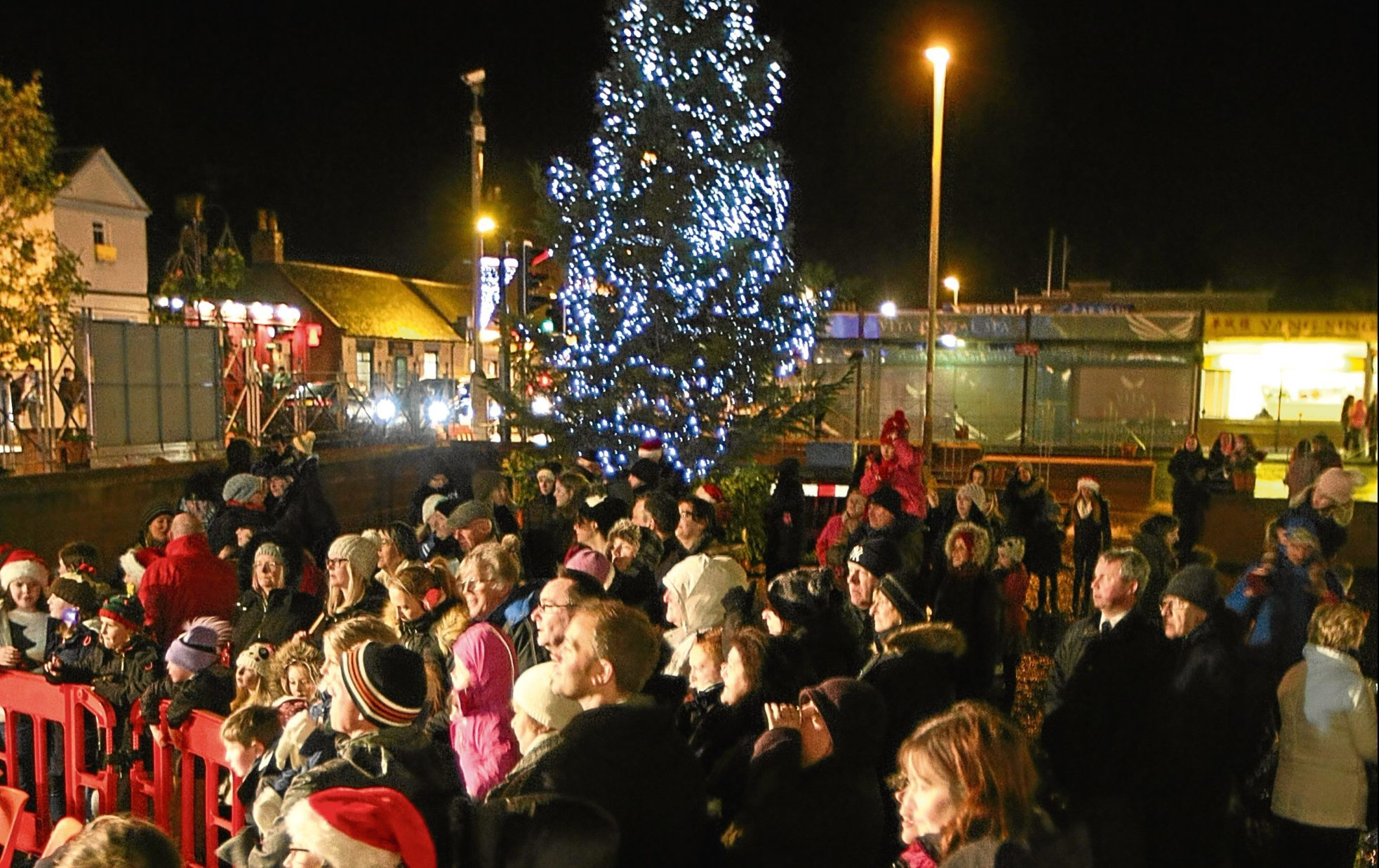 Locals at a previous Christmas light switch-on in Monifieth.
