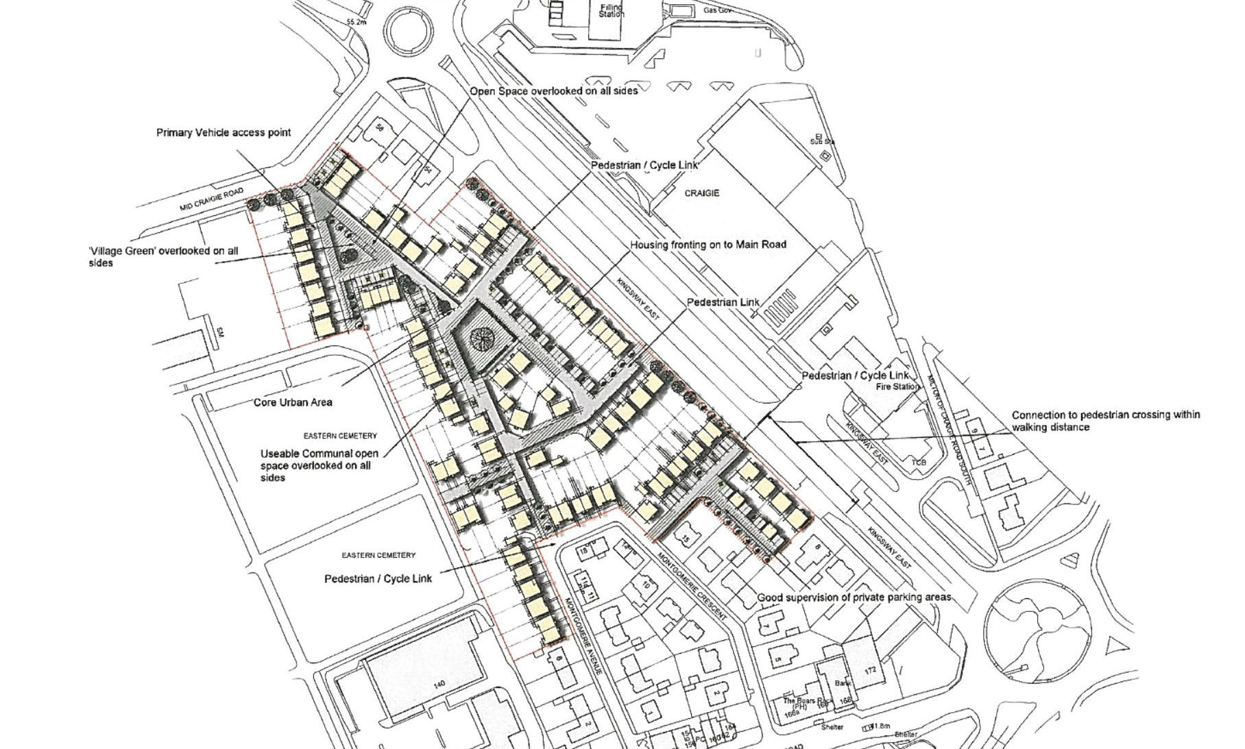 The proposed redevelopment of the former whisky bottling plant