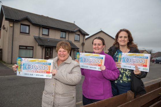 Anna Rootham, Sarah Ann McFarlane and Jackie Baker each won £30,000