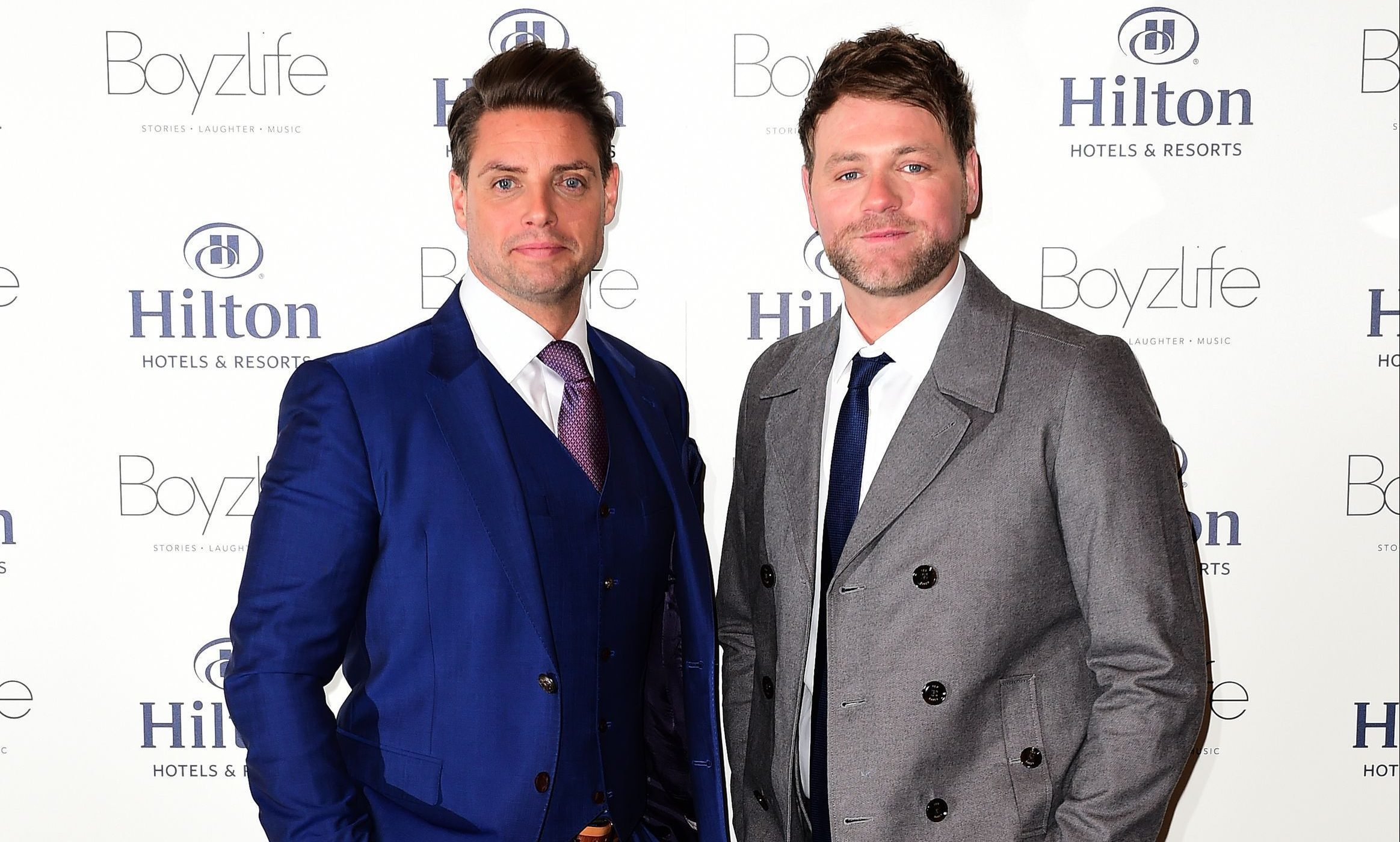 Keith Duffy (left) from Boyzone and Brian McFadden from Westlife
