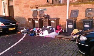 Rubbish at North George Street