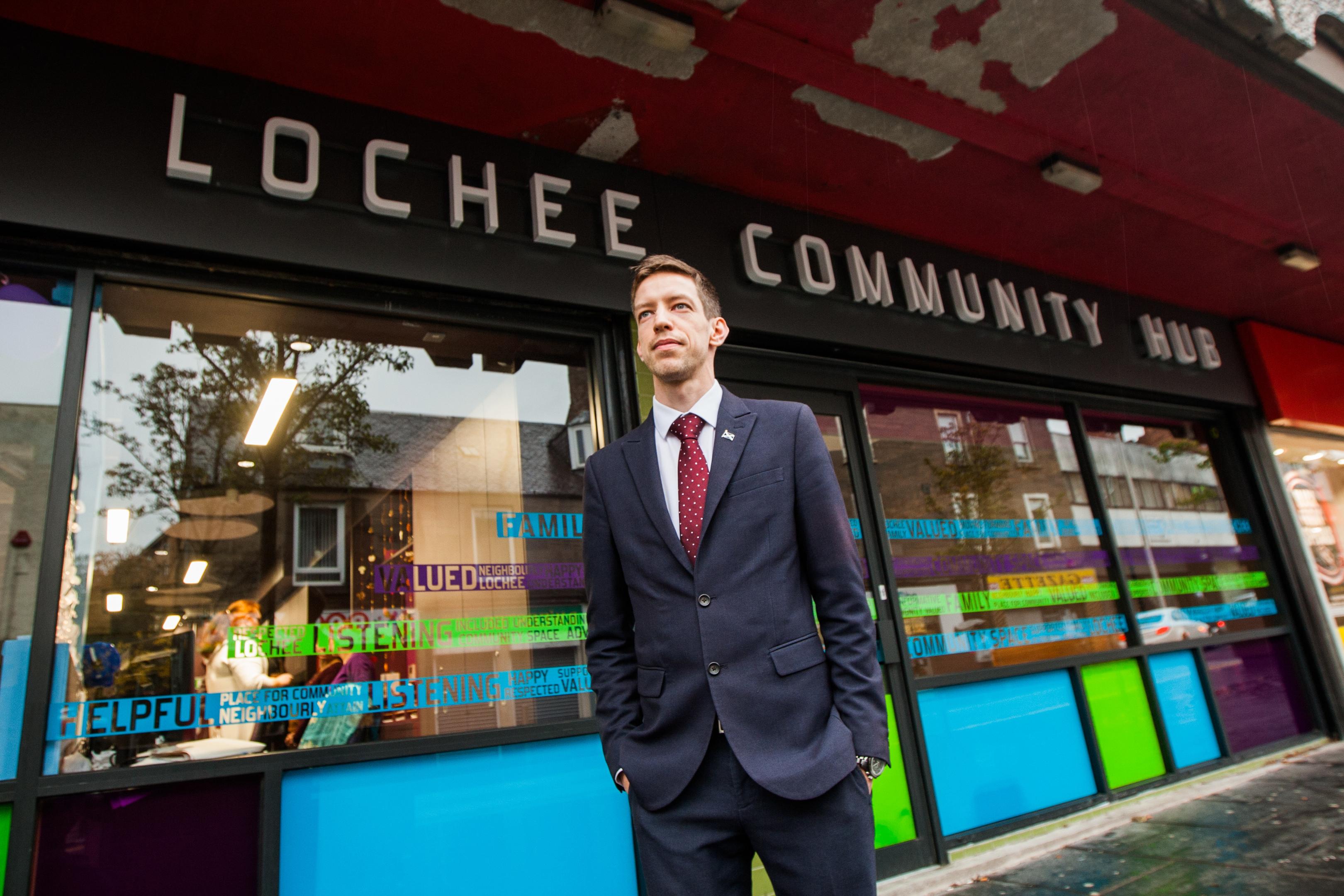John Alexander at Lochee Community Hub