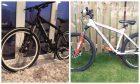 The stolen black Commencal and Carrerra Kracken mountain bikes