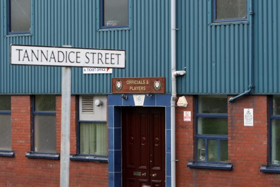 The players' entrance at Dens Park.