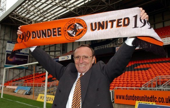 The late Dundee United chairman Eddie Thompson.