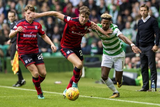 Jack Hendry, pictured against Celtic..