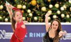 Georgia Hillman strikes a pose with British figure skating champion Frankie Seaman