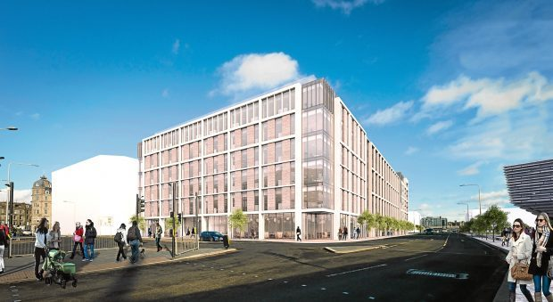 An artist's impression of how the office block could look