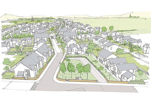 An artist's impression of the Western Gateway development, which includes plans for 600 properties.