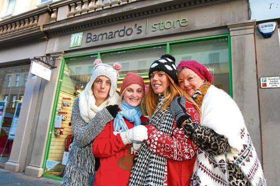 Dundee staff members Gaynor Mitchell, Shanelle Watson, Jade Duffall and Janyce