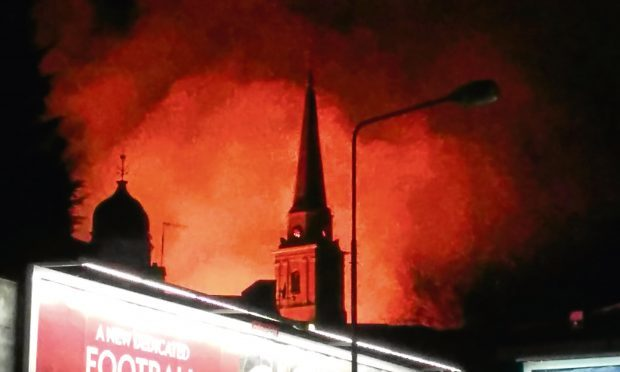 The fire at Lochee church