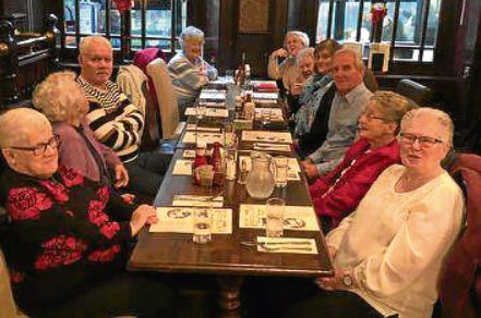 Some of those to enjoy a festive meal on behalf of the Dundee cab firm.
