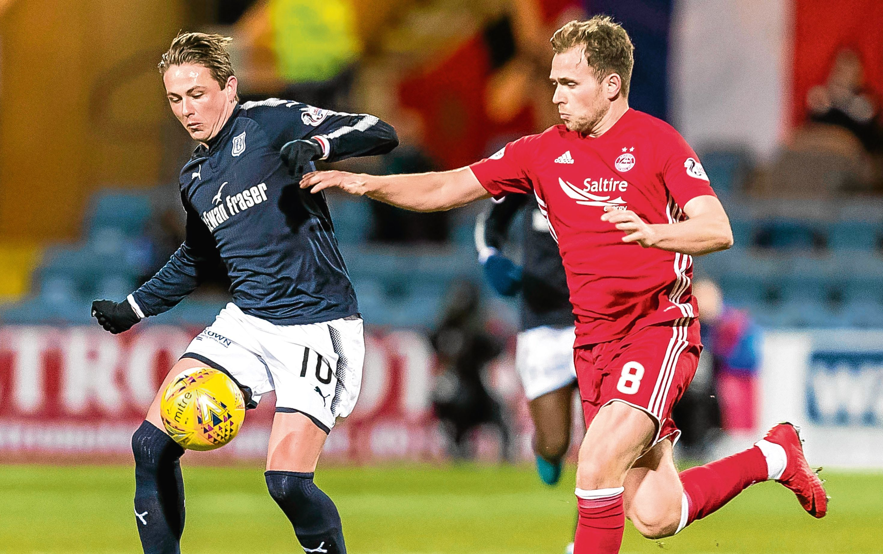 Dundee midfielder Scott Allan came off the bench against Aberdeen on Friday night.
