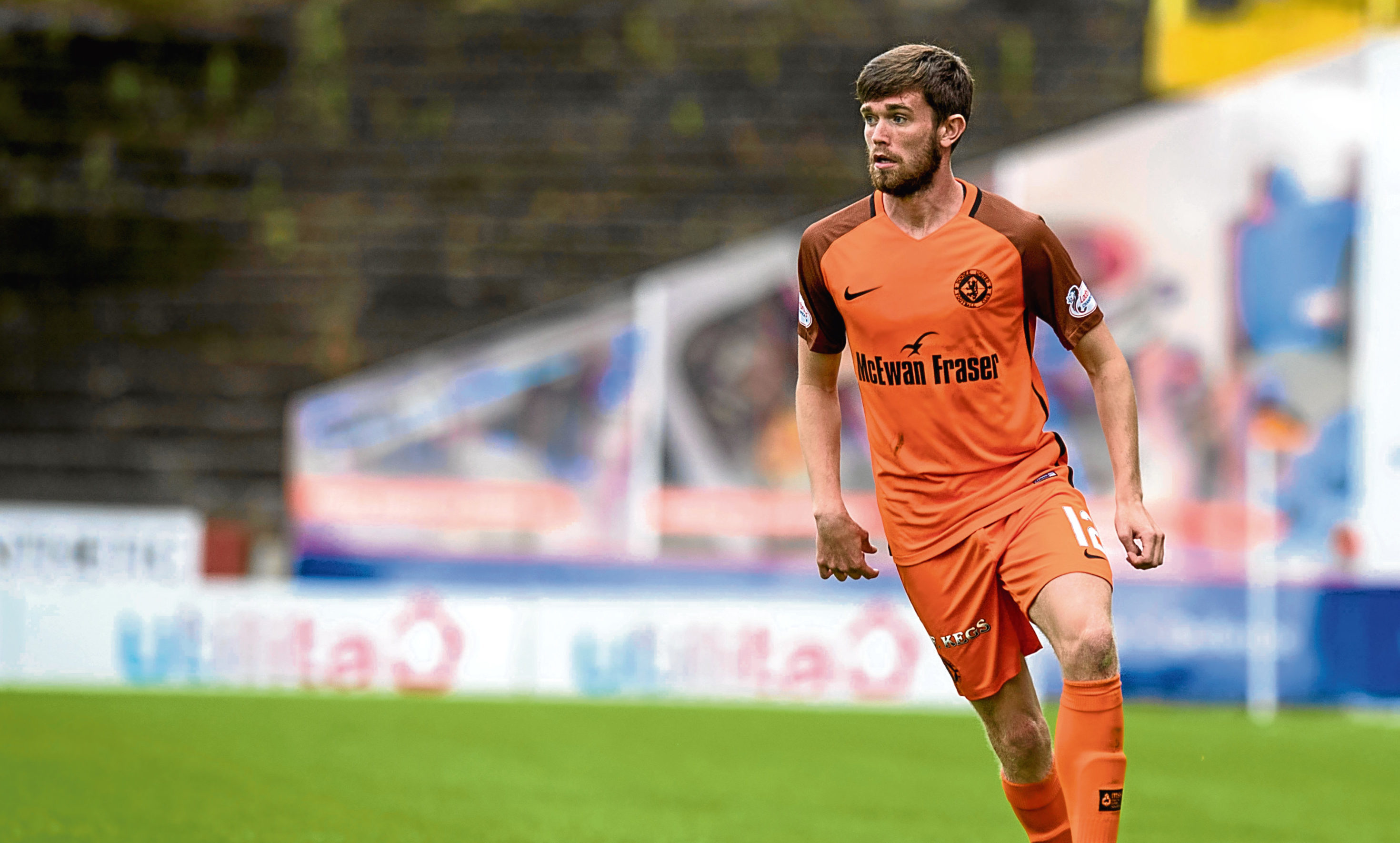Dundee United midfielder Sam Stanton