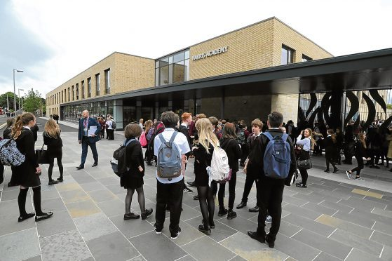 Pupils and parents at the Harris Academy (stock image)