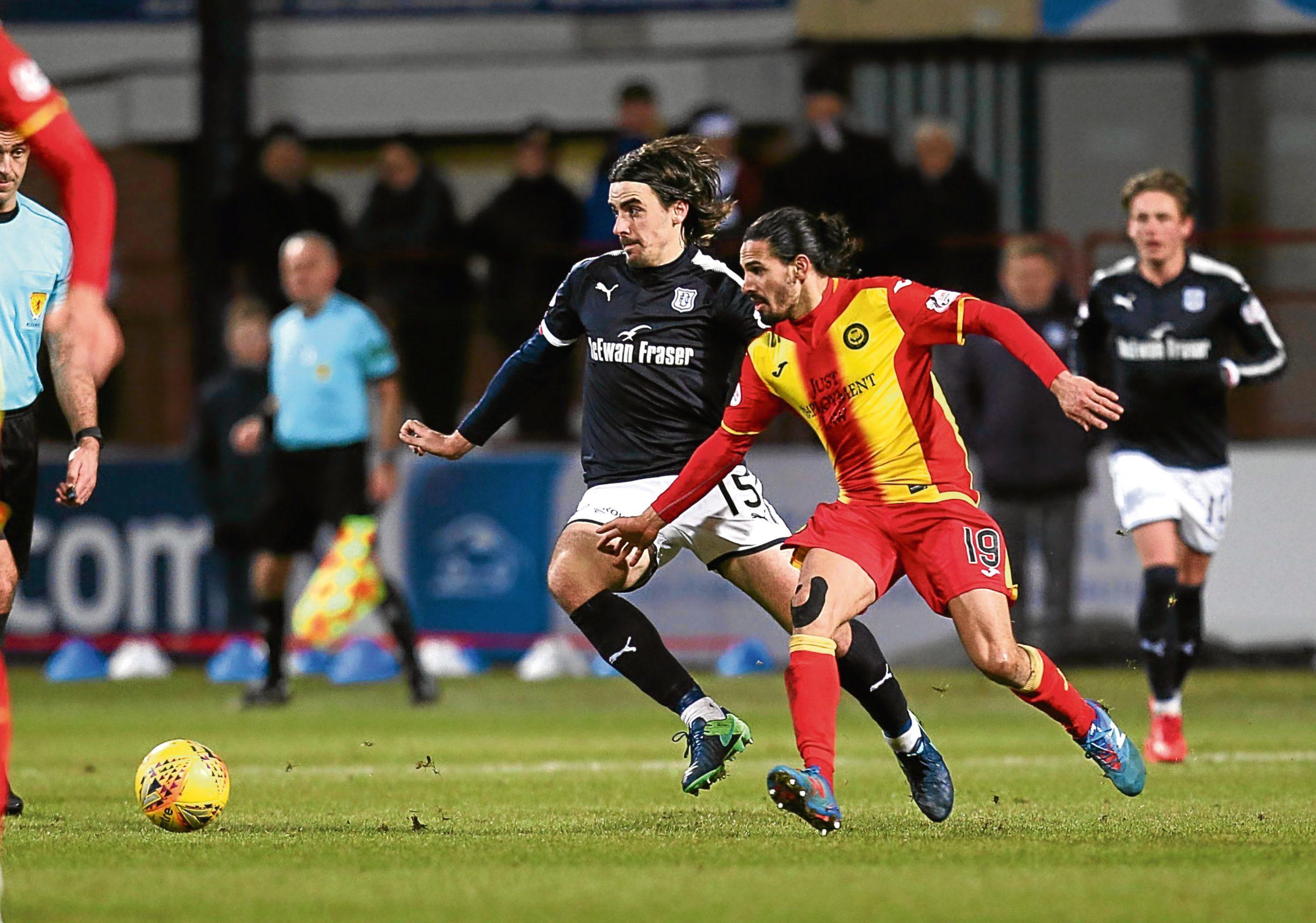 Jon Aurtenetxe in action against for Dundee at Dens.