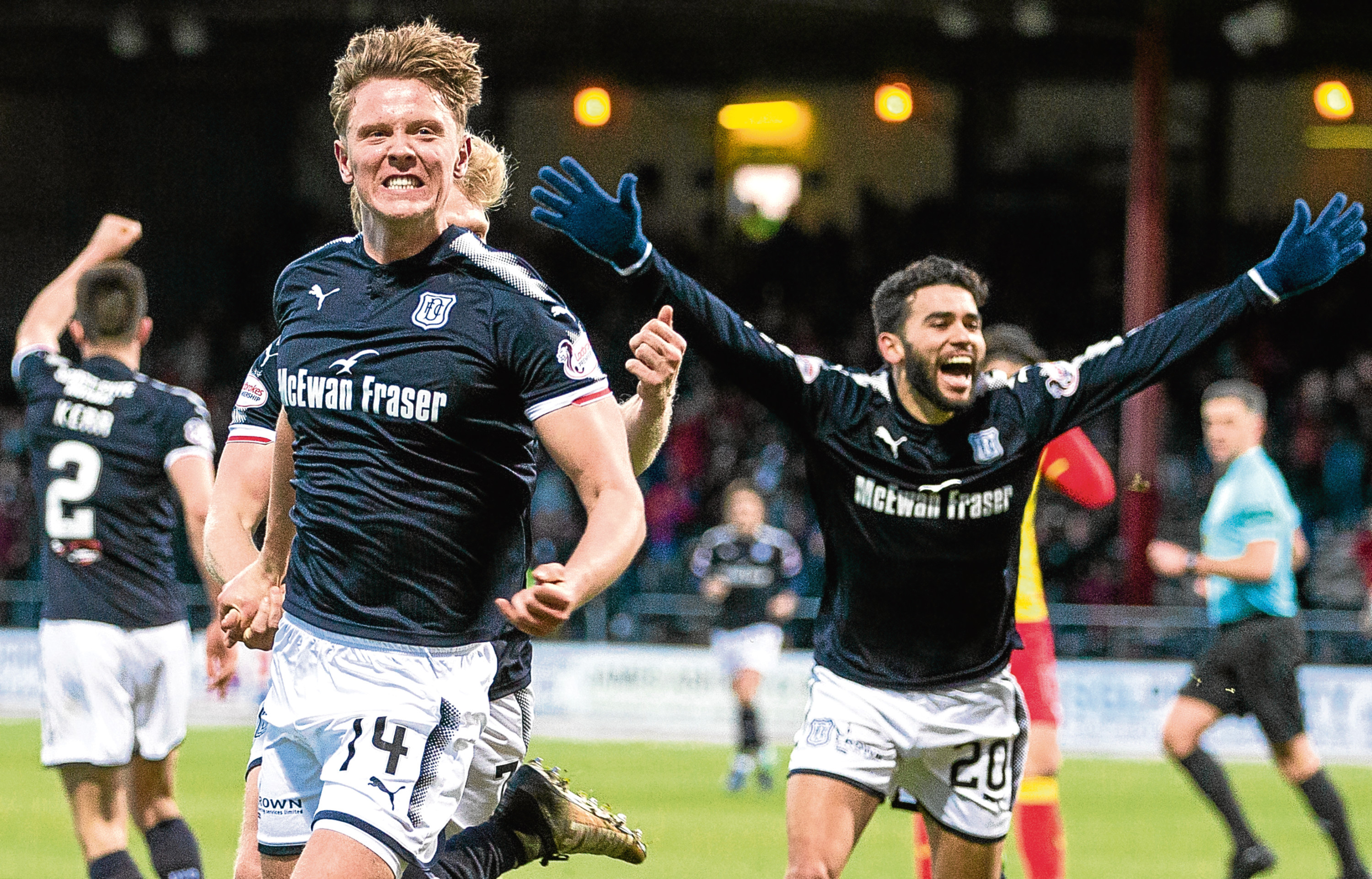 Mark O'Hara says he's enjoying himself at Dundee and is hoping to sort out a new contract in the near future.
