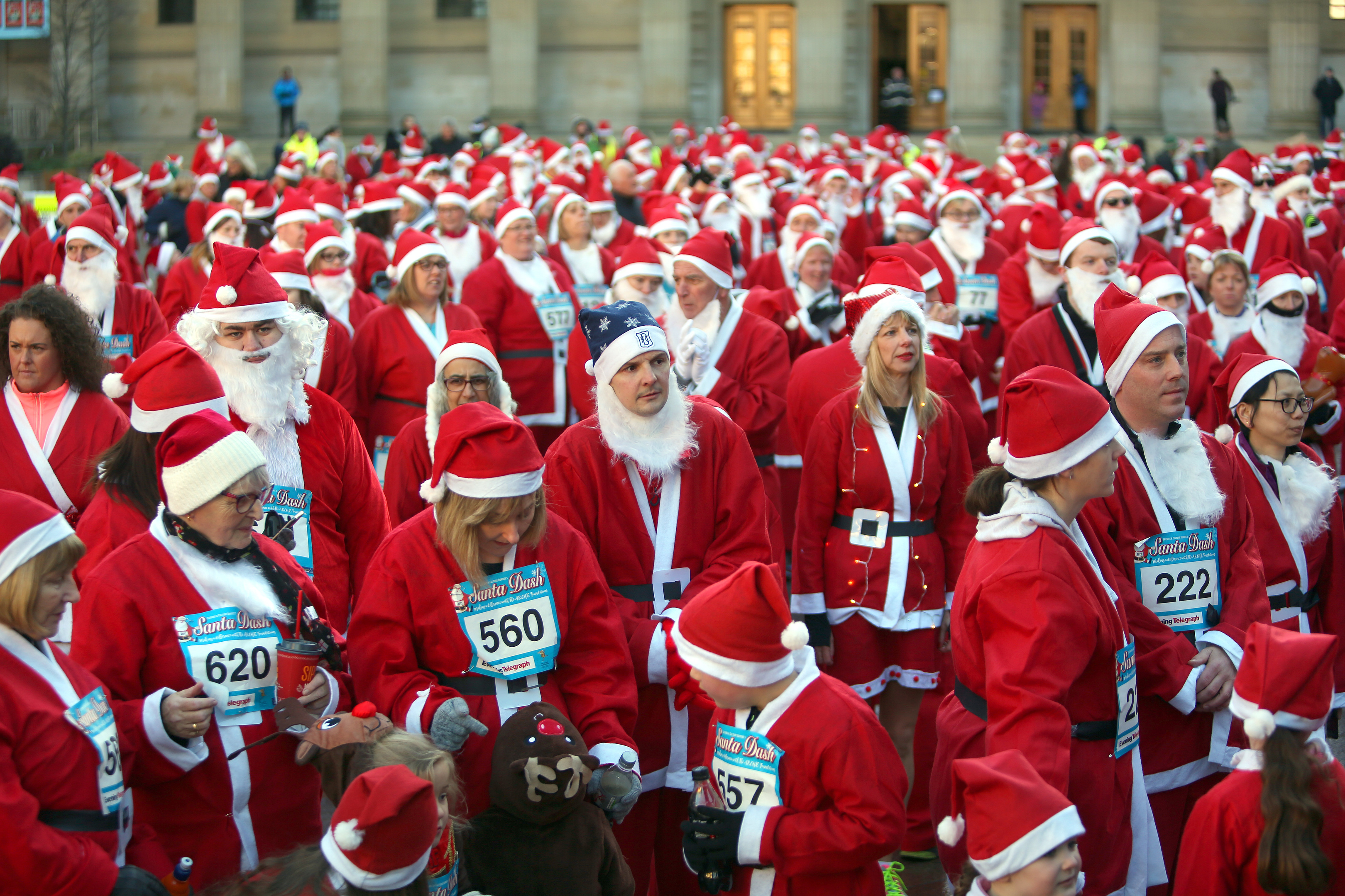Some of the participants at the first ever Santa Dash