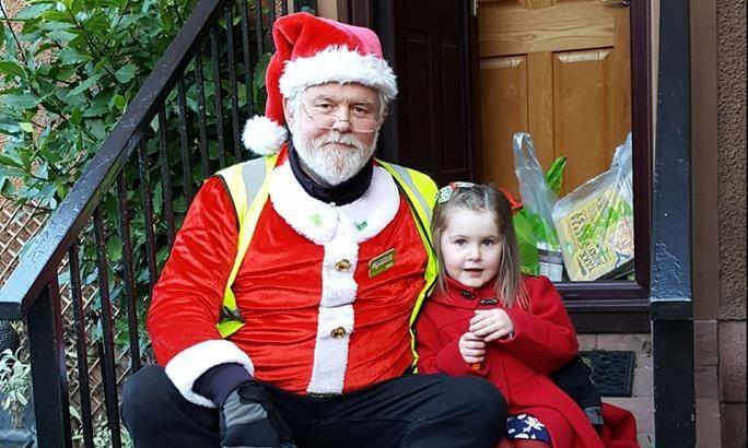 Santa with Aleisha Cook, aged three