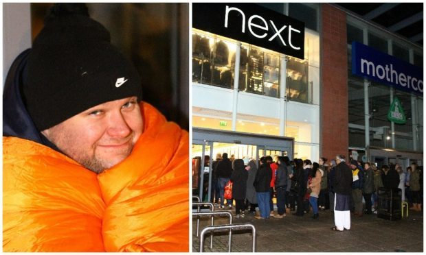 Simon Richardson was among some of those who queued outside Next in the Gallagher Retail Park in Dundee.