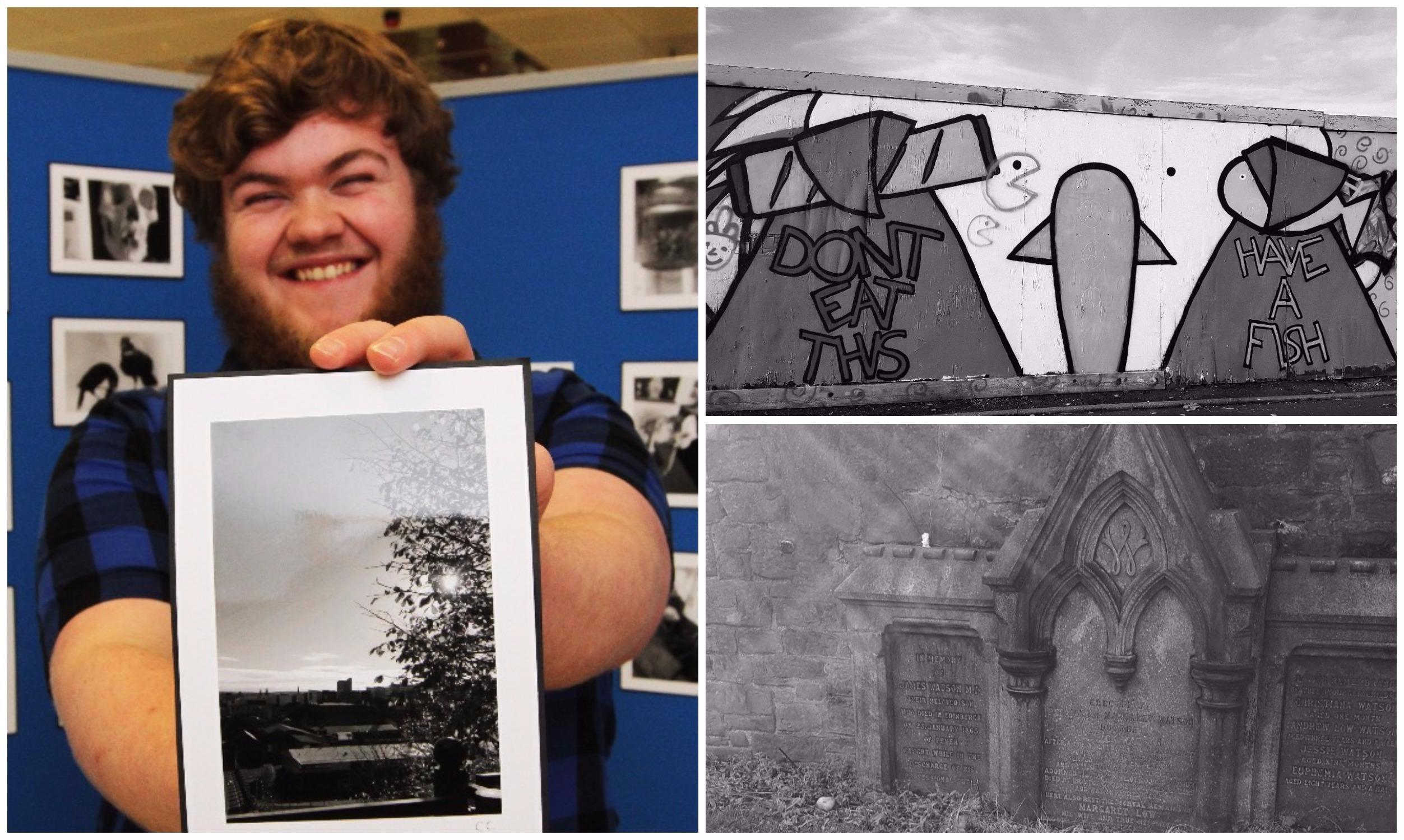 Callum Craighead holds his favourite photo.