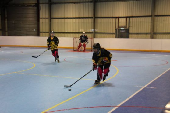 Dundee Ducks players in action.