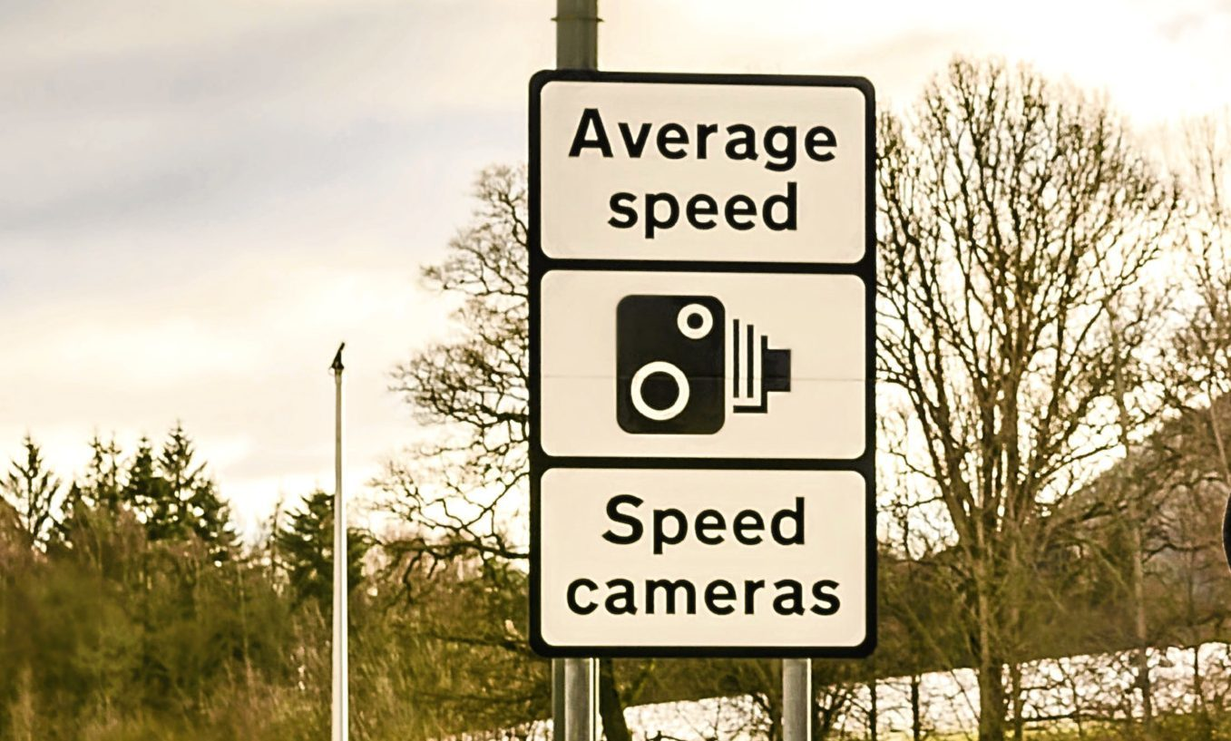 An A9 average speed camera