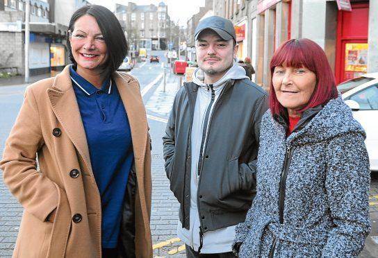 Jayne Kelly, Myles McCallum and Janette Whitton of Lochee Community Partnership.