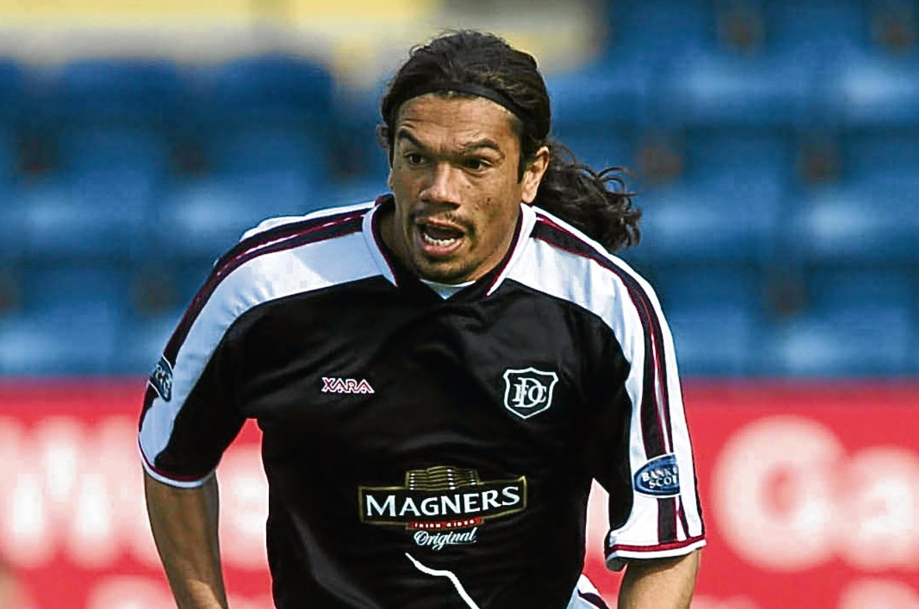 Former Dundee striker Fabian Caballero is looking forward to visiting the city again.